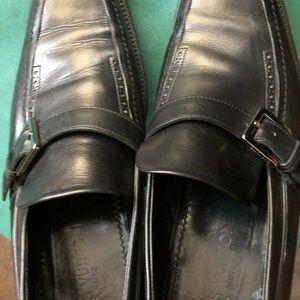 Louis Vuitton Men's Black Loafer Shoes- Size 7